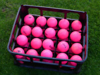 Pink Hockey Dimple Training Balls (mixed brands) x 40