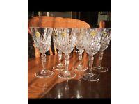 Crystal wine glasses set