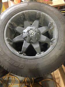 Brand new rims and winter tires with tire pressure sensors