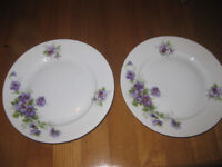 2 x vintage decorative Altrohlau Czech plates