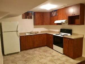 One bedroom basement apartment for rent.