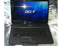 """Acer Aspire 17.3"""" laptop. Fully working. Windows 7."""
