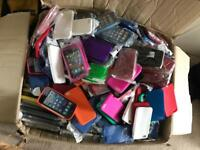 Box of iPhone & Samsung cases. Over 1000 cases