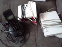 BT Fibre Broadband Router with Plusnet Wireless Hub and BT Wireless Phone
