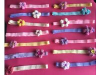 Soft elastic headbands with knitted flower