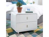 Very solid white bedside cabinet/table from Dwells (originally £149)