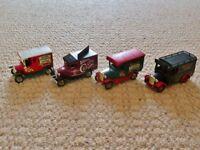 4 Lledo Diecast Walkers Crisps Model Cars / Vans / Lorries Unboxed