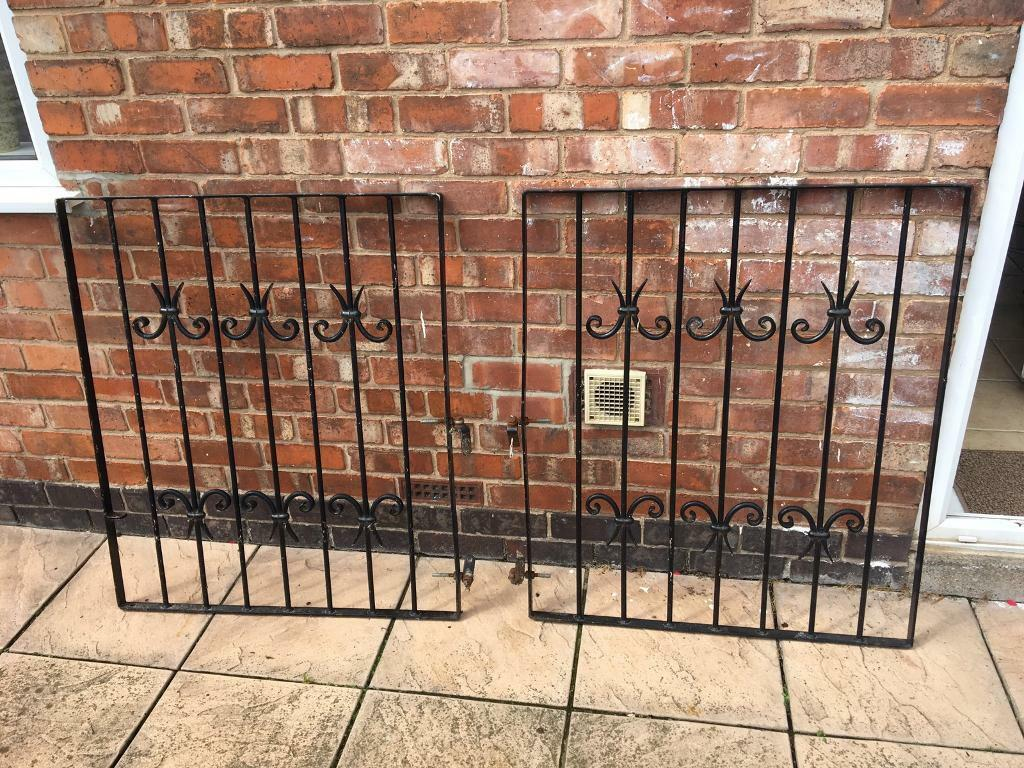 Wrought iron gatesin Ilkeston, DerbyshireGumtree - Beautiful good quality wrought iron gates for sale. In very good condition, just need a paint. Width 86cm/34 inches, height 101.5cm/40 inchesCollection only