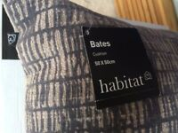 Habitat Bates Grey Flocked Cushions (x2)