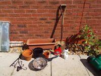 Garden Items - Spade, Pots etc.