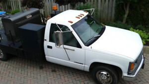 1997 Chevrolet Flatbed Truck with Lincoln Welder