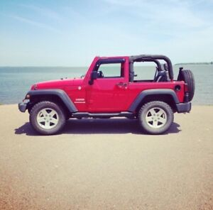 2010 Red Jeep Wrangler