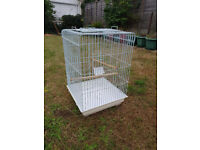 Large White Wire Bird Cage with removable base for easy cleaning