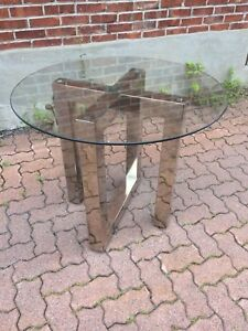 Beautiful small round glass table