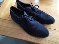 Mens size 9 blue suede Kurt Geiger shoes