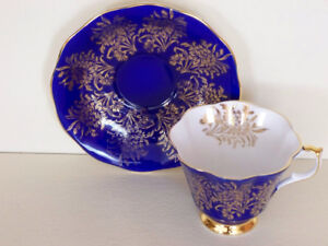"""2 """"Queen Anne"""" Cups & Saucers"""