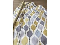 Excellent condition scandi style curtains