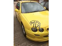 mg zr 1.4 yellow in good condition