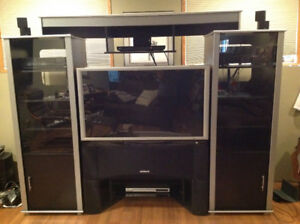 "Entertainment unit with 46"" TV"