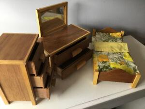 Nine piece Child's Doll Furniture