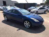 Toyota Celica 190 Bhp VVTLI, *14 Service Stamps* Leather, Air Con, Sun Roof, 12 Month Warranty