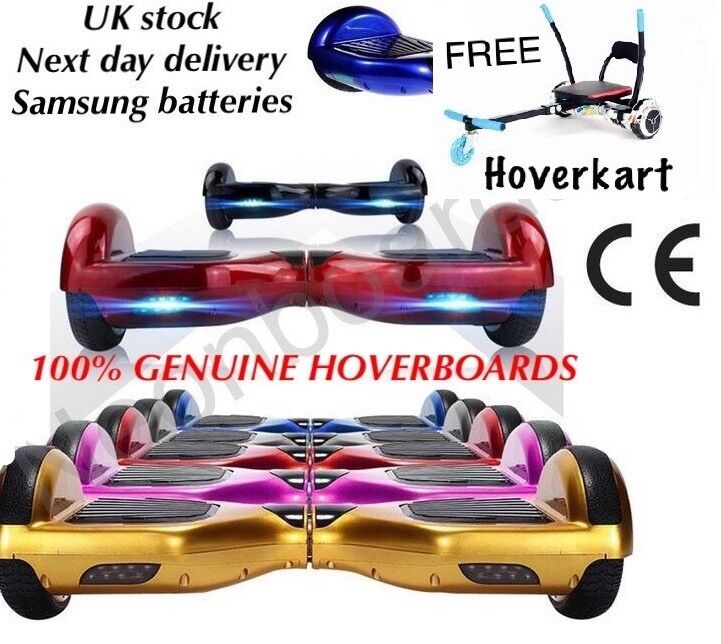 Hoverboard with kart attachment Swegway scooter Segway Samsung battery ce