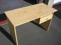 Small Desk with Drawer, Pine effect