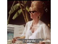 Wanted Patsy Stone from Absolutely Fabulous Sunglasses from Morocco Episode