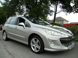PEUGEOT 308 1.6 HDi SPORT ESTATE COMPLETE WITH M.O.T HPI CLEAR INC WARRANTY