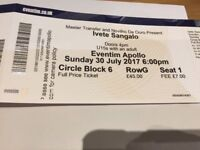 Ivete Sangalo Tickets 30th July 2017 London Apollo x 4 £150