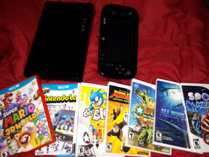 Wii U system 32gb, exc cond..11 games, 2 Wii controllers, all ho