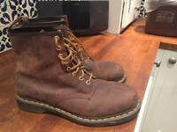 UK 10 Mens Brown Dr Martins Boots - As New
