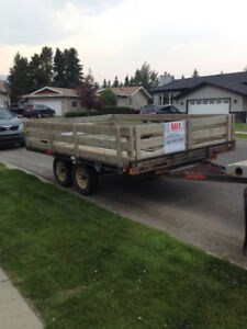 A tandem axel trailer