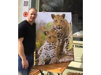 Wildlife art on canvas brand new and originals for sale by photographer