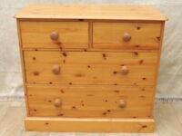 4 Drawer Welsh Pine heavy duty chest of drawers (Delivery)