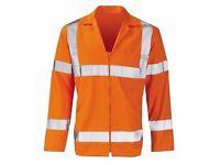 Hi Vis Orange Poly Cotton Rail Jacket