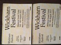 WICKHAM FESTIVAL WEEKEND TICKETS £30 each