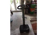 Vibro plate exercise machine