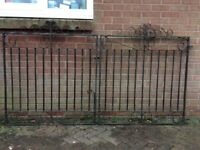 Original mid 1920's heavy weight drive gates, suitable for refurbishment.