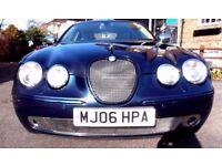 2006 JAGUAR DIESEL S TYPE NAVY BLUE HIGH SPEC..FULL MOT..LOTS OF LUXURY CHROME VERY NICE EXAMPLE CAR