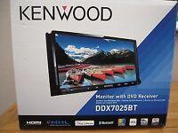 "Kenwood DDX-7025BT Double din 7"" Touchscreen USB/DVD reciever with Bluetooth handsfree built in"