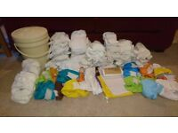 Huge Little Lamb Reusable Nappy Bundle - 48 nappies plus all accessories £90 ONO