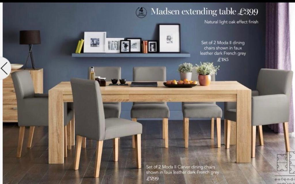 Next Madsen Extending Dining Table Oak In Newcastle
