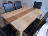 Table And Chairs x 6