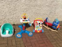 Baby Walker Rocking Toy Music Stand Seats Micky Mouse kids lot Bumbon Aeroplane
