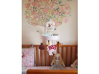 Pink lining cot mobile ***** Stunning