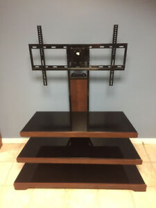 3 in 1 Hybrid TV Stand with black glass - $100 OBO