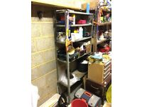 Garage/Workshop Rack Steel Shelves (items on shelves in pic not included)