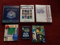 Five books and a Football card collection