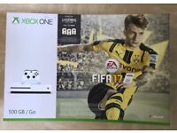 **SEALED** XBOX ONE S & FIFA 17 LEGENDS EDITION GAME & 1 MONTH ONLINE FREE, BRAND NEW, YEAR WARRANTY